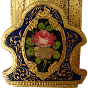 Italian Florentine Book Slide - Gilded and Hand Painted