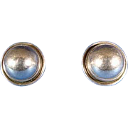 Georg Jensen Pair Sterling Silver Clip On Earrings