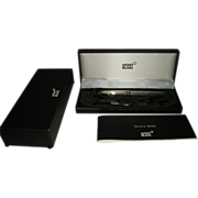 Montblanc Meisterstuck Sterling Silver Solitaire Fountain Pen Complete