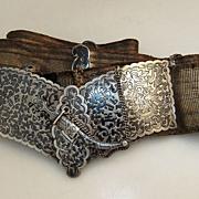 Russian 84 Standard Silver Niello Belt 1890