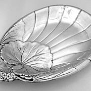 Shell Leaf Floral Serving Dish International 1940 Sterling Silver