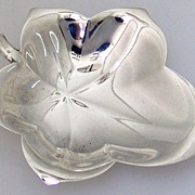 Tiffany Leaf Nut Cup 1950 Sterling Silver Art Moderne