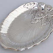 Repousse Apple Dish International Sterling Silver 1940