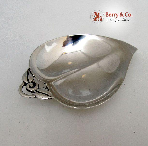 Tiffany Heart Shaped Apple Dish 1960 Sterling Silver