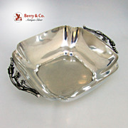 Blossom Serving Bowl Arts and Crafts Fisher Sterling Silver 1940