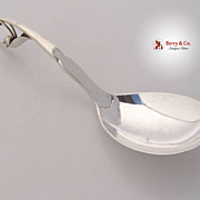 Jensen Pea Pod Serving Spoon Sterling Silver 1905