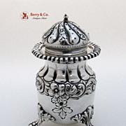 Large Ornate Heavy Salt Shaker Knowles Sterling Silver 1890