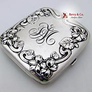 Art Nouveau Cigarette Case Sterling Silver 1890s