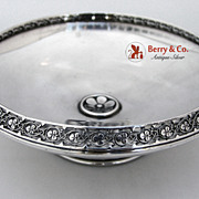 Rosette Open Work Border Bowl Sterling Silver 1890