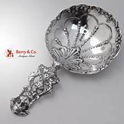 SOLD Figural Basket of Flowers Scoop Sterling Silver Dutch English Import 1895