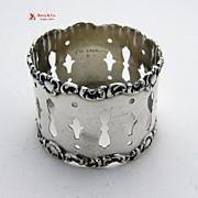 Open Work Napkin Ring Sterling Silver Watrous 1897