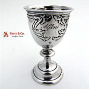 Antique Vodka Cup 800 Solid Silver 1880