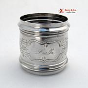 Coin Silver Napkin Ring 1870 Luella