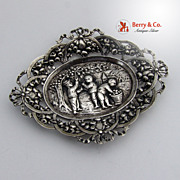 Ornate Pin Tray Open Work 800 Silver 1900