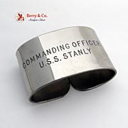 USS Stanly Napkin Ring Commanding Officer DD-478