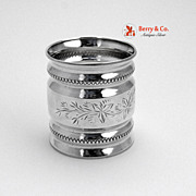Coin Silver Bright Cut Napkin Ring Towle Silversmiths 1880