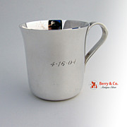 Tiffany and Company Baby Cup Sterling Silver