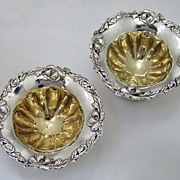 Salt Dishes Les Cinq Fleurs Reed and Barton 1900 Sterling Silver