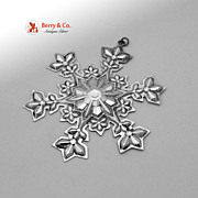 Christmas Snowflake Ornament Gorham Sterling Silver 2000
