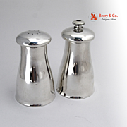 Art Moderne Pepper Mill Salt Shaker Alvin Sterling Silver 1950