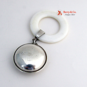 Baby Rattle Sterling Silver  Lunt