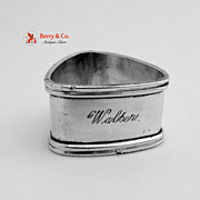 Triangular Napkin Ring Dutch 830 Silver 1890