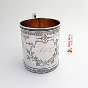 Aesthetic Cup Mug Kidney Cann and Johnson Coin Silver 1863