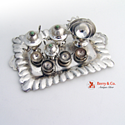 SOLD Miniature Sterling Silver Tea Set Punch Set Mexico