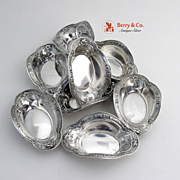 Wild Rose Nut Cups Sterling Silver 8 Pieces International  1948