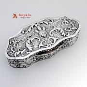 Repousse Dresser Box Scrolls Lady Head Dutch 833 Silver 1890