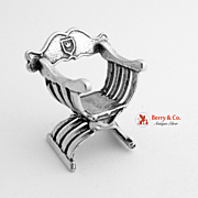 Sterling Silver Miniature Arm Chair 1950