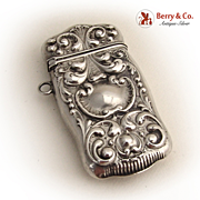 Baroque Shell Match Safe 1900 Sterling Silver