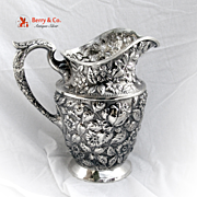 Baltimore Rose Water Pitcher Schofiled 1905 Sterling Silver