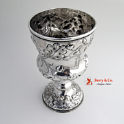 Acorn Goblet Hyde and Goodrich Sterling Silver