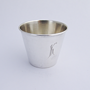 R. Blackington And Co Monogrammed Shot Cup Sterling Silver 1940