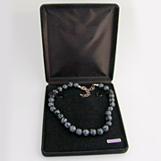 Snowflake Obsidian And Sterling Silver Beaded Necklace
