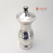Tiffany Pepper Mill Sterling Silver Wood