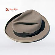 Barbisio Titan Italian Brimmed Grey Fedora Felt Silk Leather