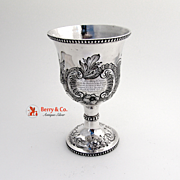 Ornate Repousse Floral Scroll Goblet Sterling Silver Canfield Bro And Co 1851