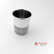 SALE PENDING Figural Thimble Shot Cup Sterling Silver Towle 1960