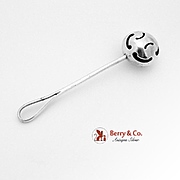 Hand Made Baby Rattle Sterling Silver 1940