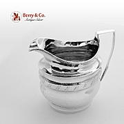 Georgian Helmet Form Creamer Sterling Silver 1800