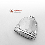 Bell Form Baby Rattle Sterling Silver 1920