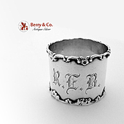 Floral Scroll Napkin Ring Sterling Silver National Silver Co 1900
