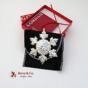 Gorham Christmas Ornament Sterling Silver 2007
