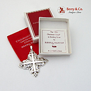 Christmas Cross Ornament Sterling Silver Reed Barton 1983