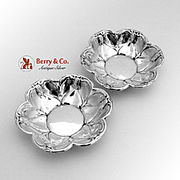 Floral Nut Cups Sterling Silver Pair F B Rodgers 1940