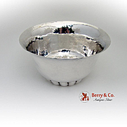 Hand Wrought Arts And Crafts Hammered Bowl Sterling Silver Marshall Field Co 1930