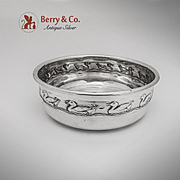 Embossed Duck Baby Feeding Bowl Sterling Silver Reed Barton 1952