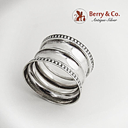 Tapered Napkin Ring Coin Silver 1890